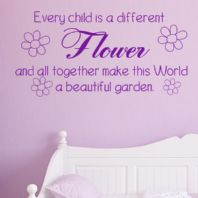 Every Child is a Flower ~ Wall sticker / decals